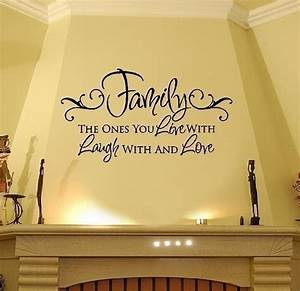 family quotes wall decals quotesgram With family wall decal