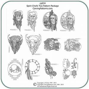 Spirit Chiefs Two Patterns – Classic Carving Patterns