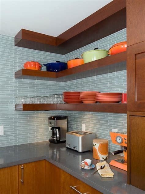 etagere cuisine design 1001 idées étagère d 39 angle murale arrondissez les