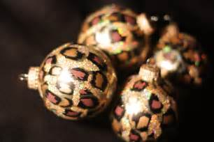 leopard print christmas ornaments