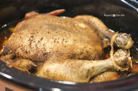 cook whole chicken repeat crafter me how to cook a whole chicken in the crock pot