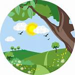 Nature Icon Valley Icons Greenery Sun Ecology