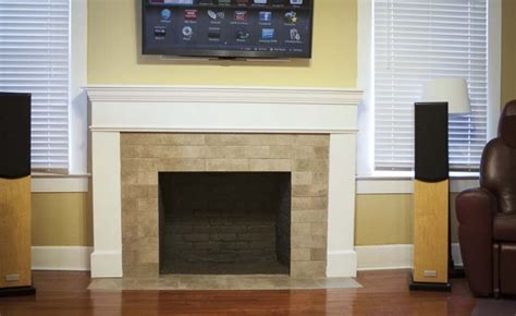 renovating with a tile brick fireplace design