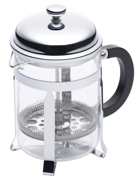 Kitchen Craft Le Xpress by Kitchen Craft Le Xpress Four Cup Chrome Plated Cafetiere