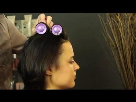 hot rollers  short hair shoulder length