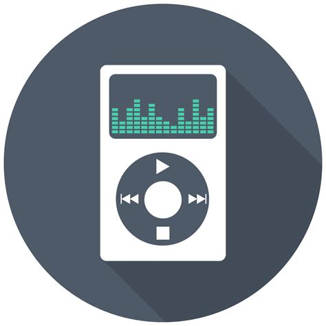 mp player icon  flat multimedia iconset designbolts