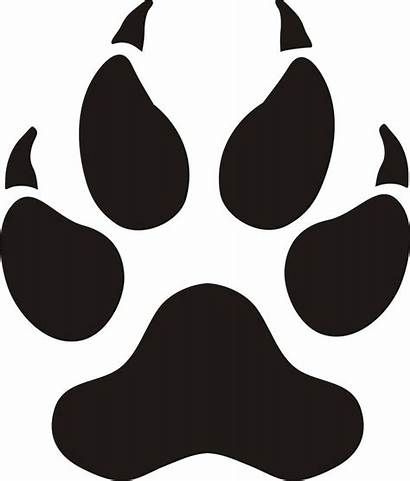 Paw Dog Paws Clip Prints Wolf