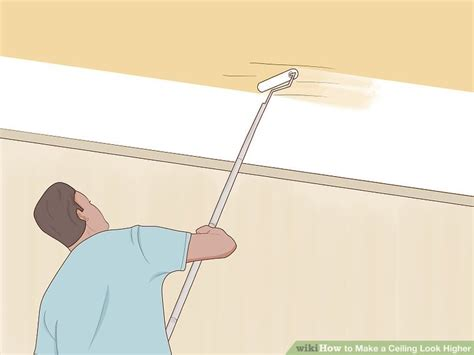paint color to make ceiling look higher 3 ways to make a ceiling look higher wikihow