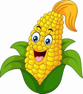 Cartoon Sweet Corn stock vector. Illustration of mascot ...