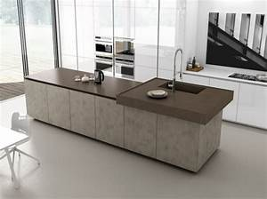 cuisine avec ilot central 43 idees inspirations With cuisine moderne ilot central
