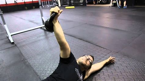 kettlebell arm bar crossfit mobility
