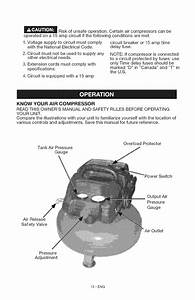 Page 12 Of Craftsman Air Compressor 15206 User Guide