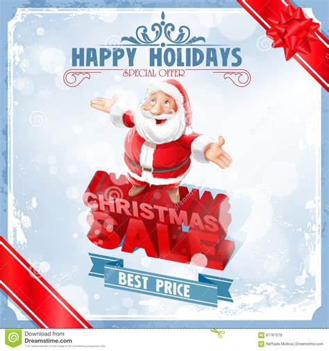 sale christmas santa claus stock vector image 61767078