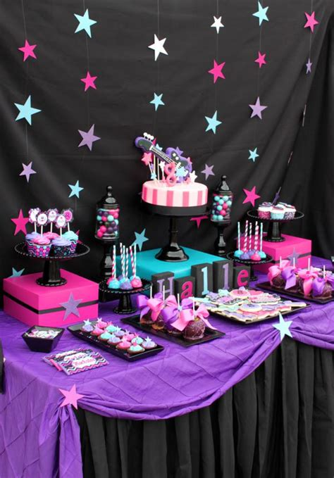 pailyn s bash girly party ideas girly rock pink birthday party planning ideas