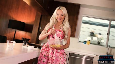 Hot Elsa Jean Baking Cookies In Lingerie And Having A