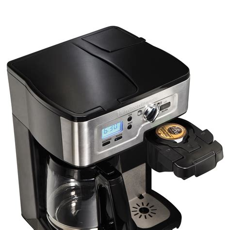 Looking into the hamilton beach systems, they come along with unique supports like the flexbrew, brewstation, and others which are exclusively available here. Hamilton Beach FlexBrew 49983A Single Serve/Full Pot ...