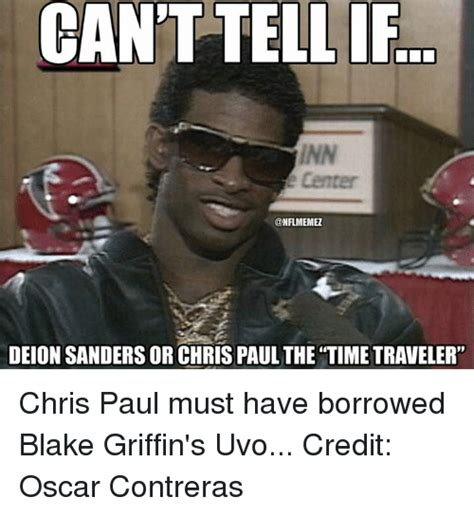 Chris Paul Memes - can t tell if nfl memez deion sanders or chris paul the time traveler chris paul must have