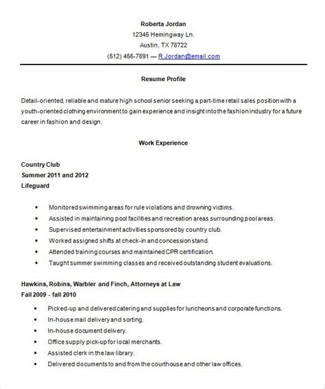 Resume High School by High School 3 Resume Templates High School Resume