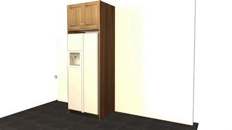cabinet ideas for kitchen create a standard ge refrigerator enclosure barker