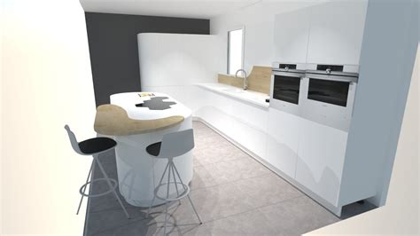 cuisiniste barentin une cuisine futuriste blanche à découvrir absolument