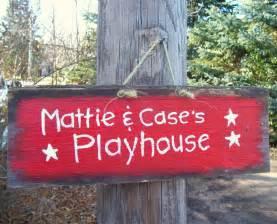 kids playhouse  barn wood sign hand painted
