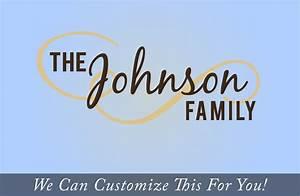 Custom family name The Johnson Family flourish wall decor