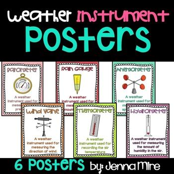 weather instruments posters  msmireishere teachers pay