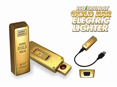 Bar Gold Lighter Usb Powered