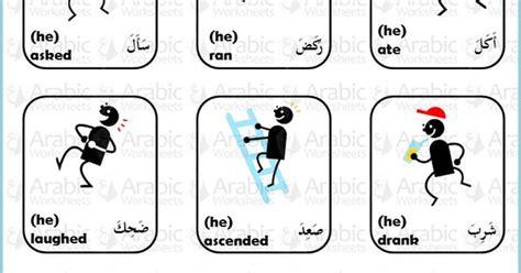 Arabicenglish Picture Dictionary Verbs  Arabicworksheets (tm) Mini Dictionary Pinterest