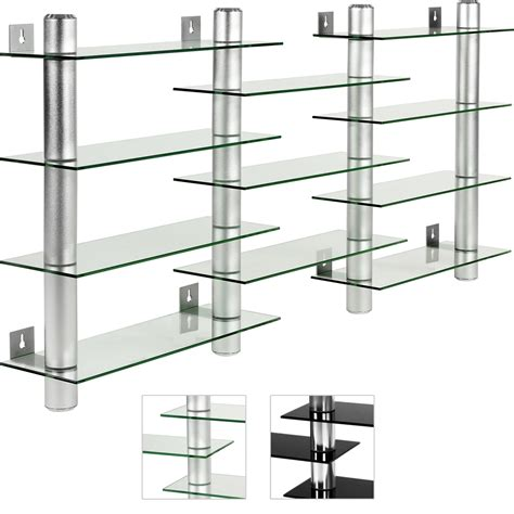 cd regal glas stilista design glas aluminium cd dvd regal wandregal f
