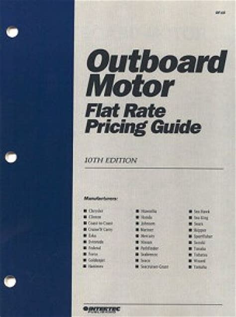 marine outboard motor flat rate labor manual pricing guide