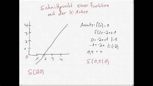 Schnittpunkt Berechnen Quadratische Funktion : schnittpunkt mit der x achse ausrechnen youtube ~ Themetempest.com Abrechnung