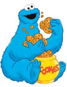 Cookie Monster Eating Cookies Clip Art