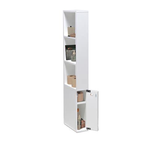 meuble cuisine 25 cm largeur meuble de toilette en bois 1 porte 3 étagères