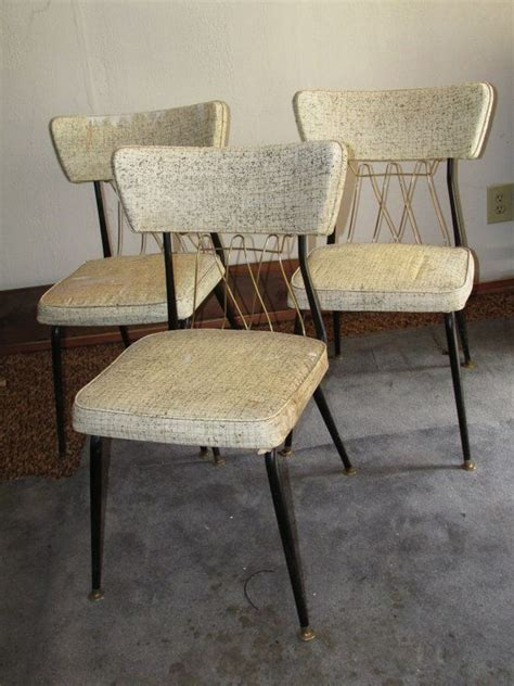 mid century virtue brothers black  brass dinette chairs