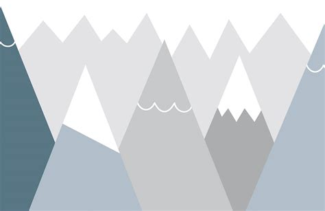 kids blue  grey mountains wall mural murals wallpaper