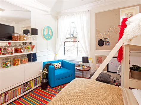 colorful kids bedroom  candy store theme hgtv