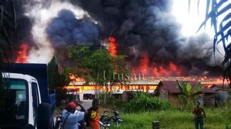 warga emas terkorban  kebakaran rh sambau utusan