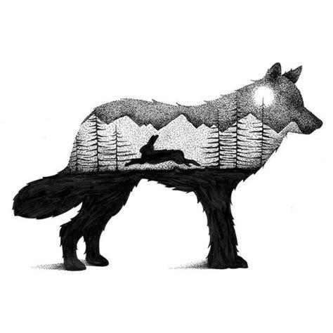 Wilderness Scenes Illustrated Within Striking Animal