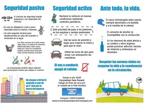 folleto de prevencion de accidentes concientizar prevenir