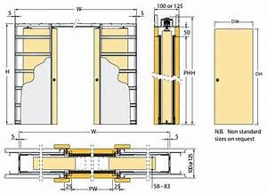 Eclisse Sliding Pocket Door System - Double Door Kit