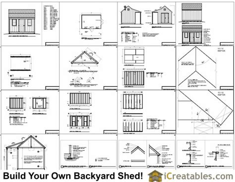 10x14 shed floor plans 10x14 colonial shed with porch plans icreatables sheds