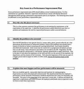 performance improvement plan template 9 download With performance management action plan template