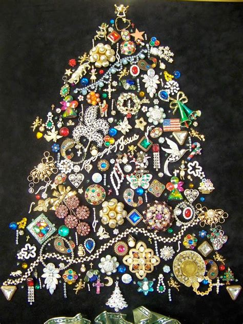 jewelry christmas tree ideas  pinterest
