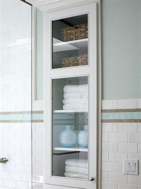 bathroom cabinet recessed in wall 29 best in wall storage ideas to save your space shelterness
