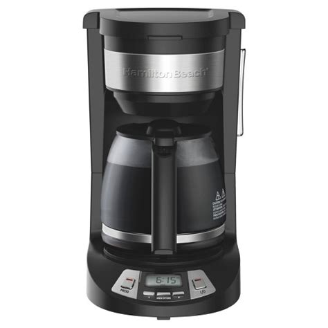 It's a 12 cup coffee maker that perfectly goes for homes, offices or any place where you want to install coffee brew stations. Hamilton Beach 12 Cup Programmable Coffee Maker - Black 46290 : Target
