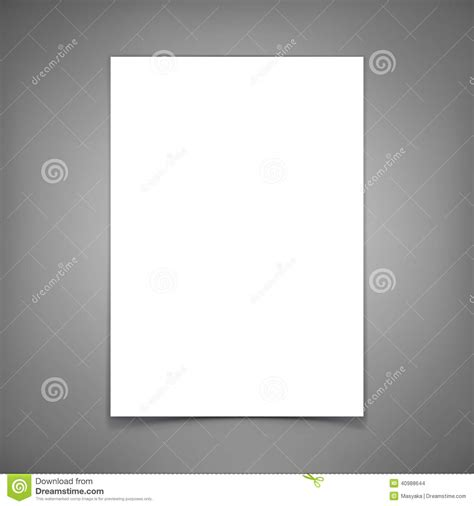 vector blank paper sheet template   design stock