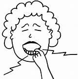 Toothache Clipart Coloring Pages Cliparts Do2learn Clip Headache Colouring Library Words Picturecards sketch template