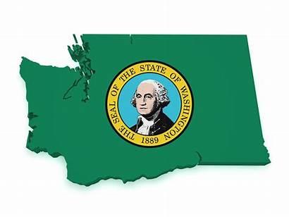 Washington State Law Flag Map Shape Marijuana