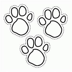 Coloring Pages Of Tiger Paw Prints Murderthestout